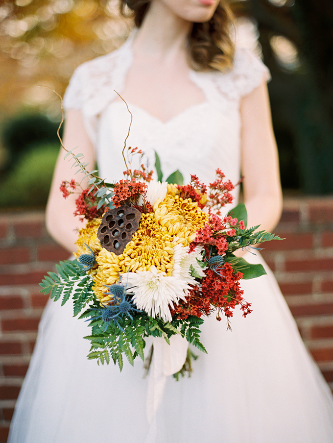 fall bouquet | Jessica Mae Photography | Glamour & Grace
