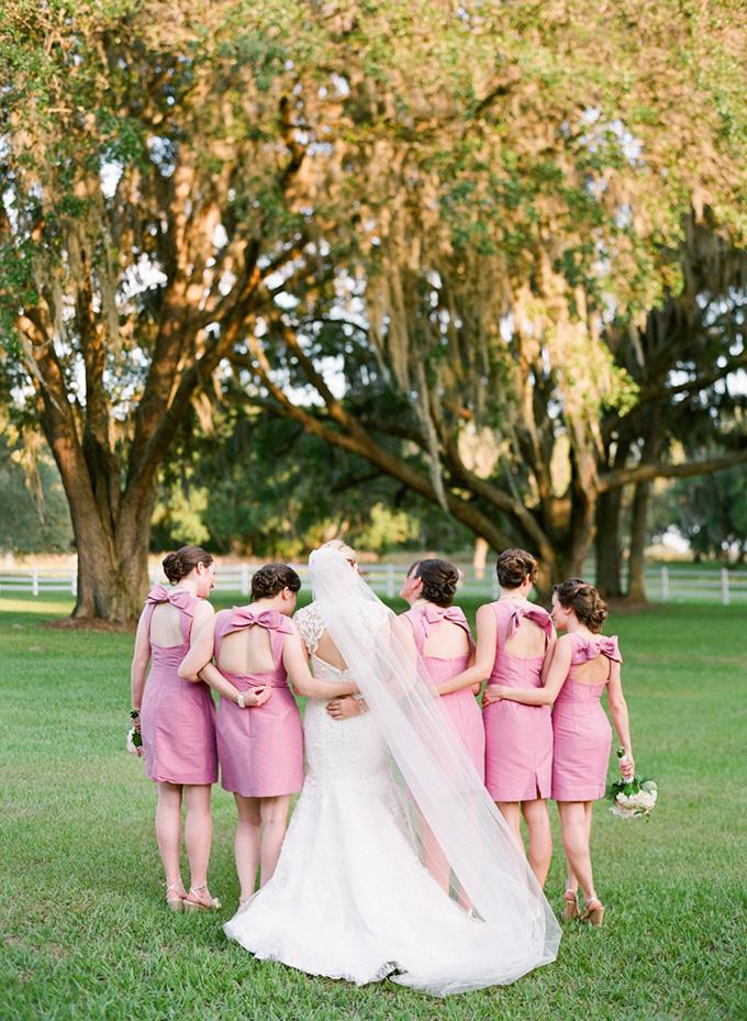 fun bow back bridesmaids | Justin DeMutiis Photography | Glamour & Grace