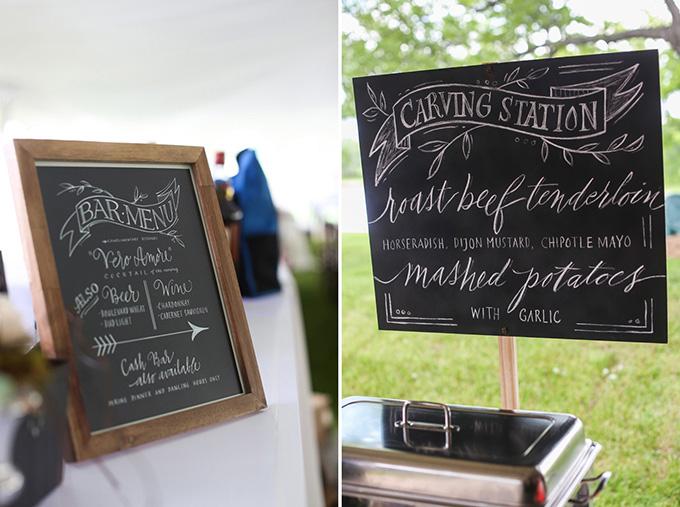 chalkboard menus   KaBloom Studios   Glamour & Grace