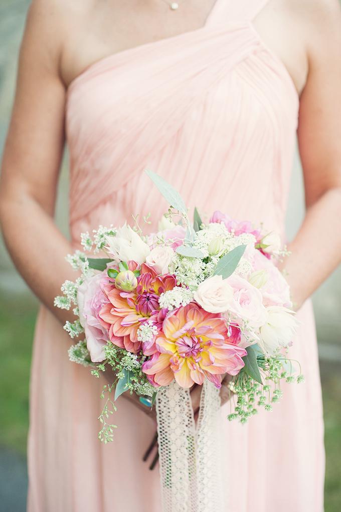 romantic pink bouquet | Melissa Gidney Photography | Glamour & Grace