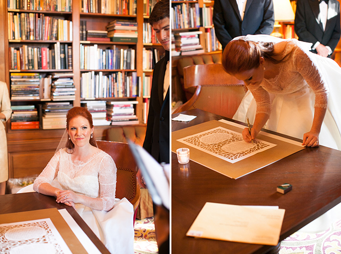 signing the ketubah | Love Light Images | Glamour & Grace