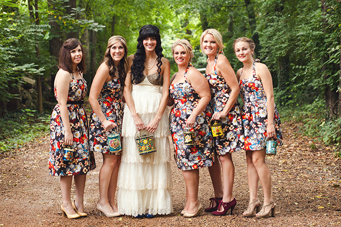 BHLDN floral bridesmaids | Stef Atkinson Photography | Glamour & Grace