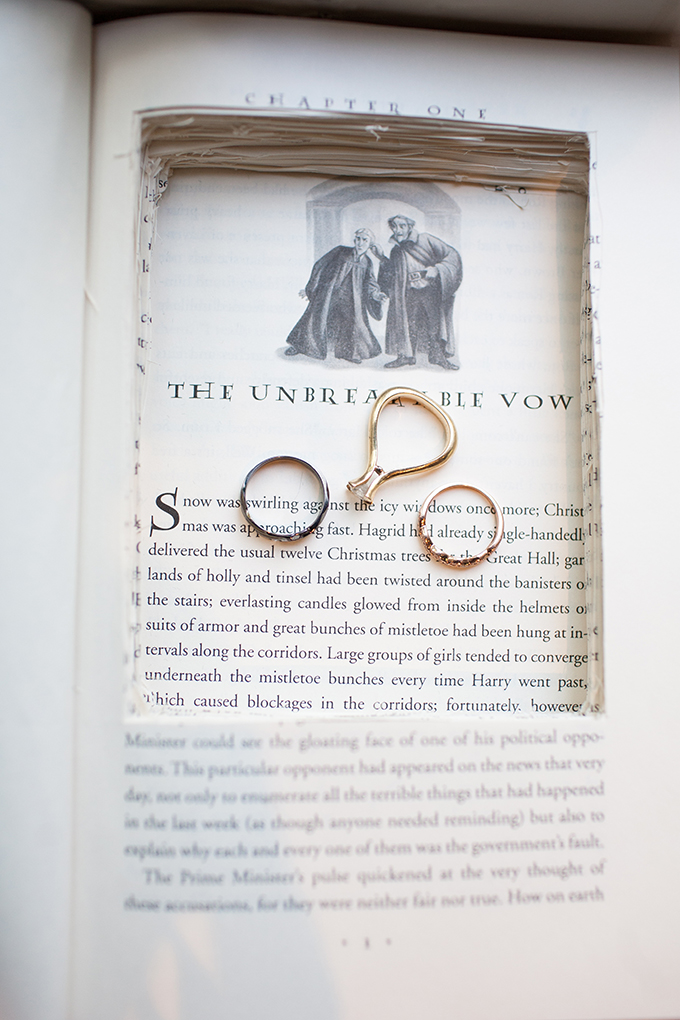 Harry Potter ring holder | Stef Atkinson Photography | Glamour & Grace