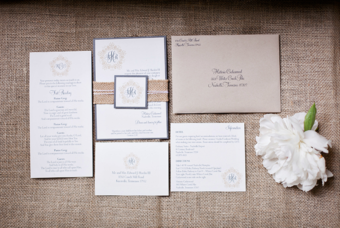 invitation by designs in paper | JEN & CHRIS CREED | Glamour & Grace