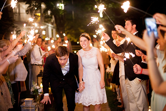 sparkler exit | JEN & CHRIS CREED | Glamour & Grace