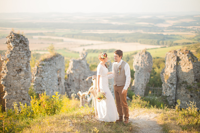 rustic summer Slovakia wedding | Peter & Veronika | Glamour & Grace