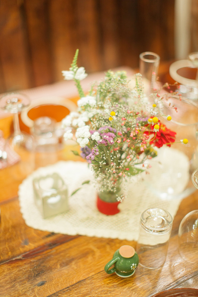rustic summer centerpieces | Peter & Veronika | Glamour & Grace