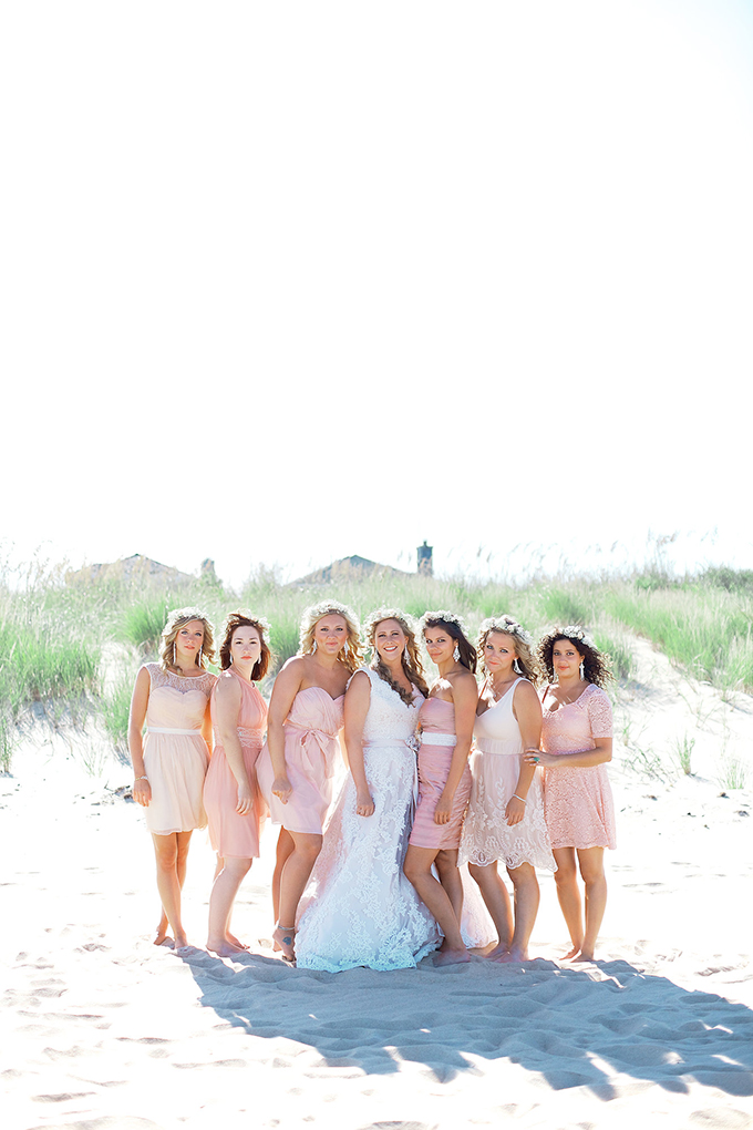 pink mismatched bridesmaids | Kacie Lynch Photography | Glamour & Grace