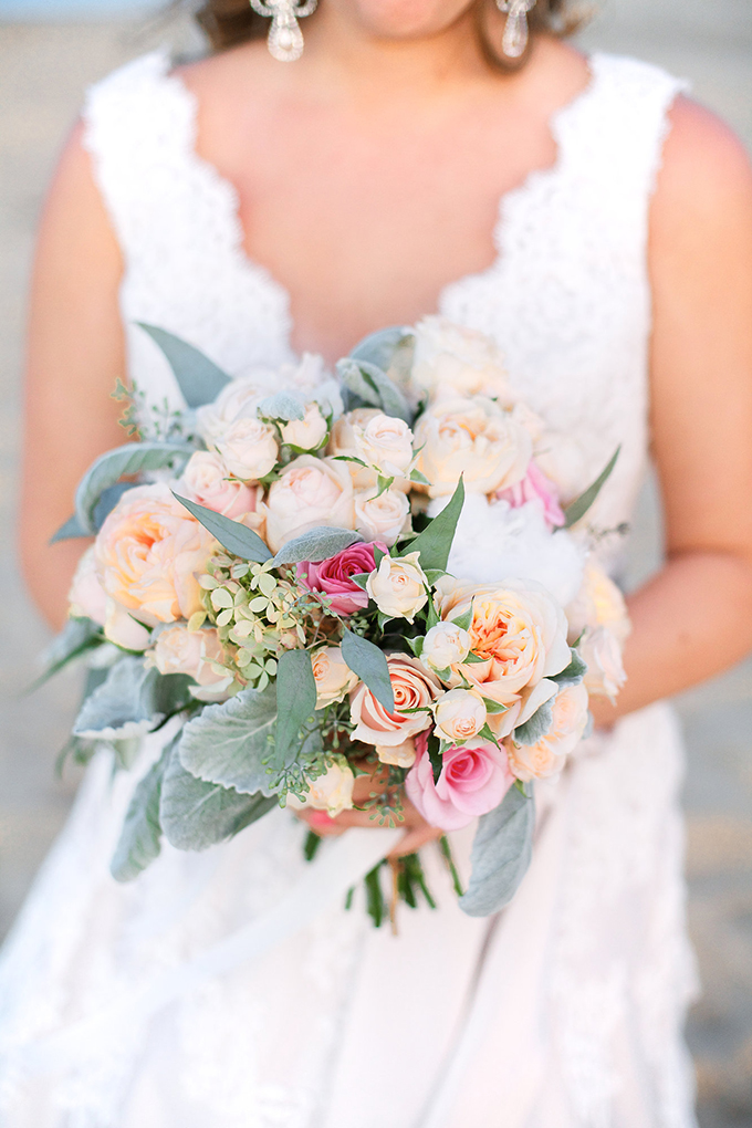 pink and cream bouquet from Roost Flowers & Designs | Kacie Lynch Photography | Glamour & Grace