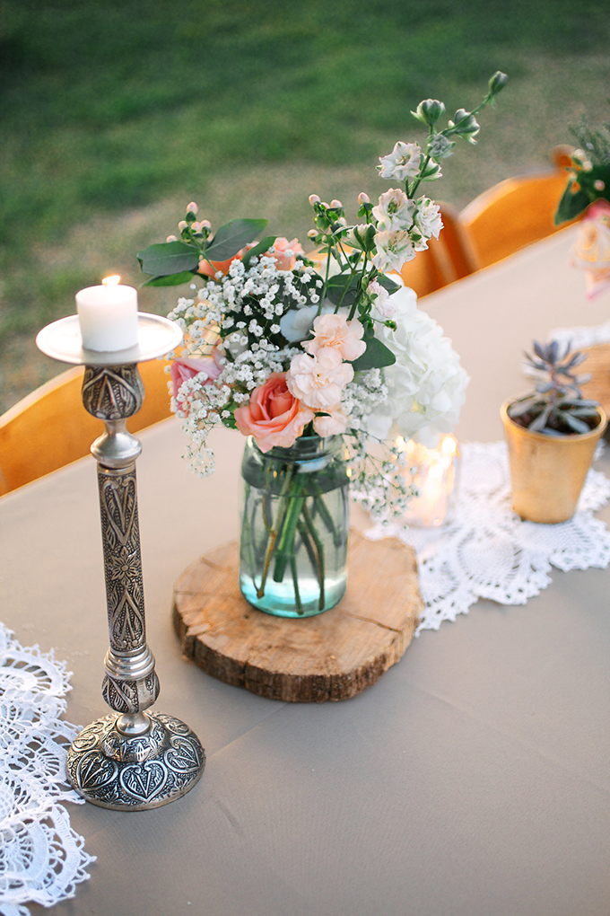 rustic centerpieces | Kacie Lynch Photography | Glamour & Grace