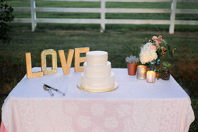 cake table | Kacie Lynch Photography | Glamour & Grace