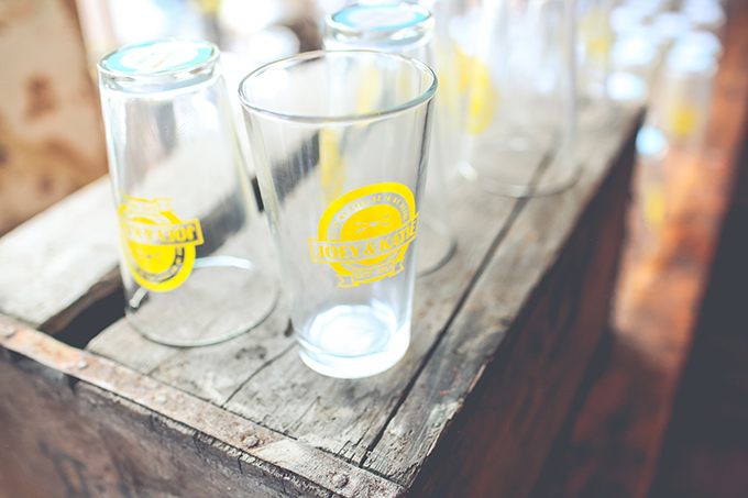 custom beer glasses | Keira Lemonis Photography | Glamour & Grace
