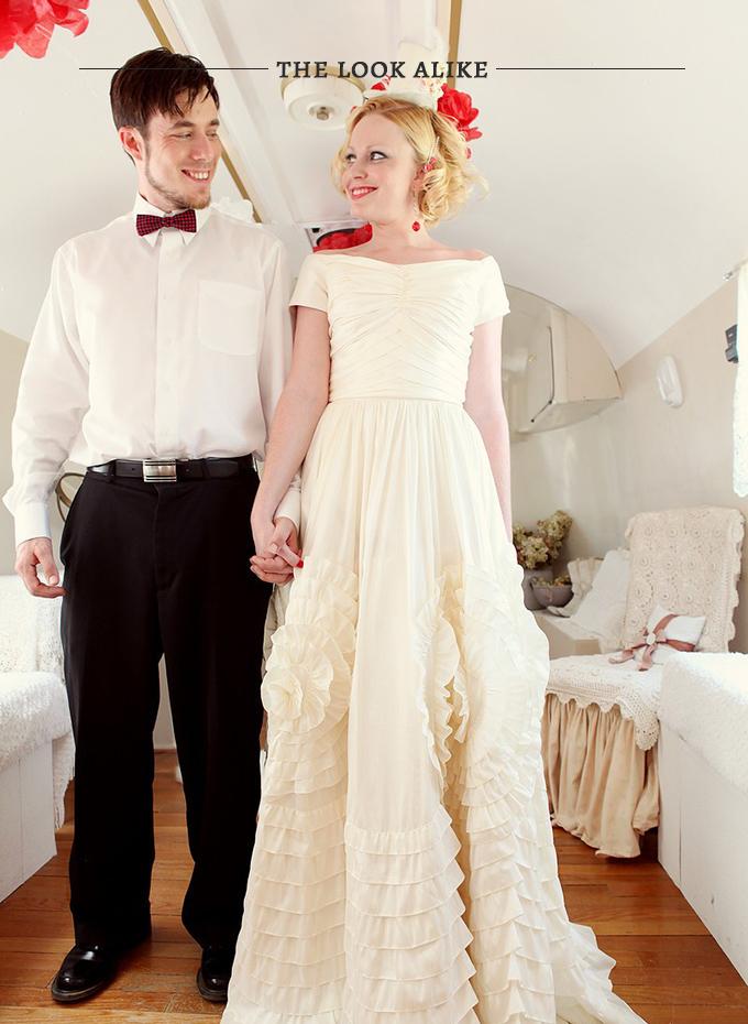 Jackie O wedding gown