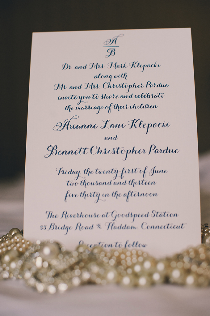 calligraphy invitation | Katie Slater Photography | Glamour & Grace