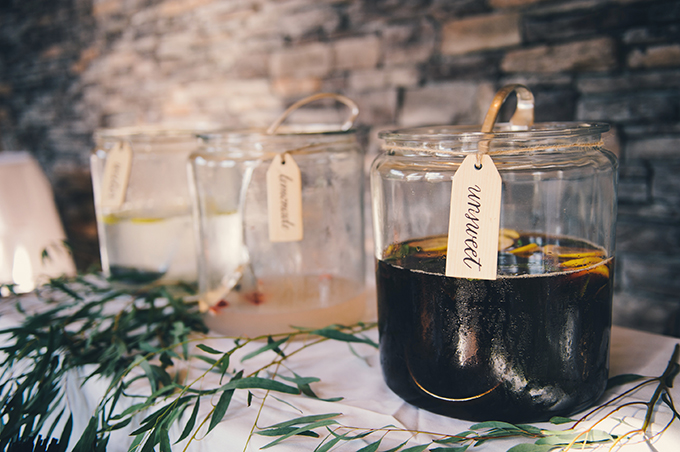 drink table | Katie Slater Photography | Glamour & Grace