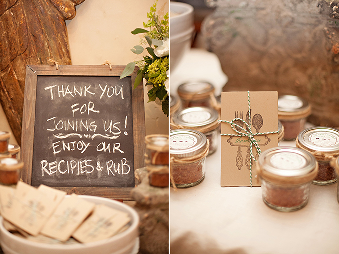 spice rub favors | Paperlily Photography | Glamour & Grace