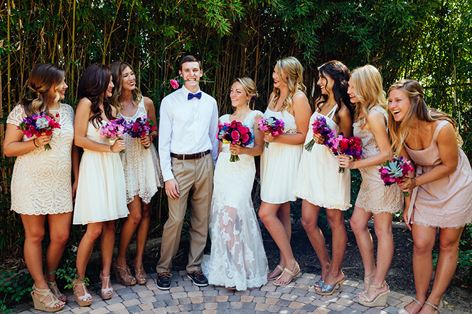 white bridal party | Snapmotive | Glamour & Grace