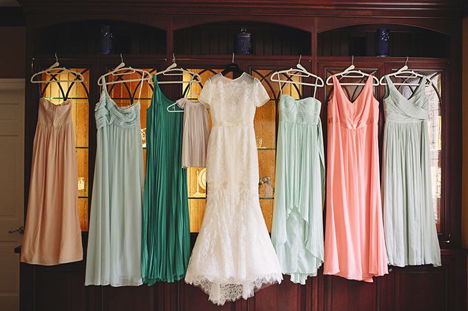peach and mint bridesmaids | Brooke Courtney Photography | Glamour & Grace