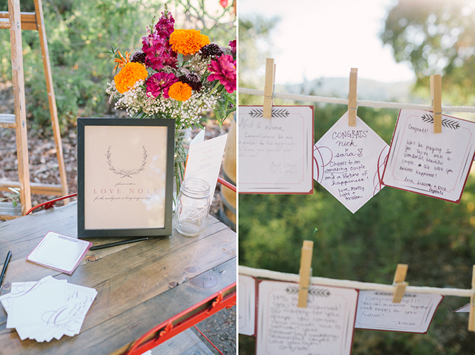 love note guest book | Kirsten Julia Photography | Glamour & Grace