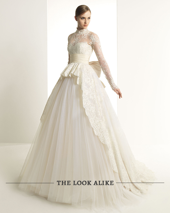 Grace Kelly style wedding gown by Rosa Clara | Glamour & Grace
