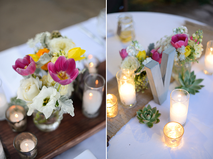 rustic chic centerpieces | Stacy Kokes Photography | Glamour & Grace