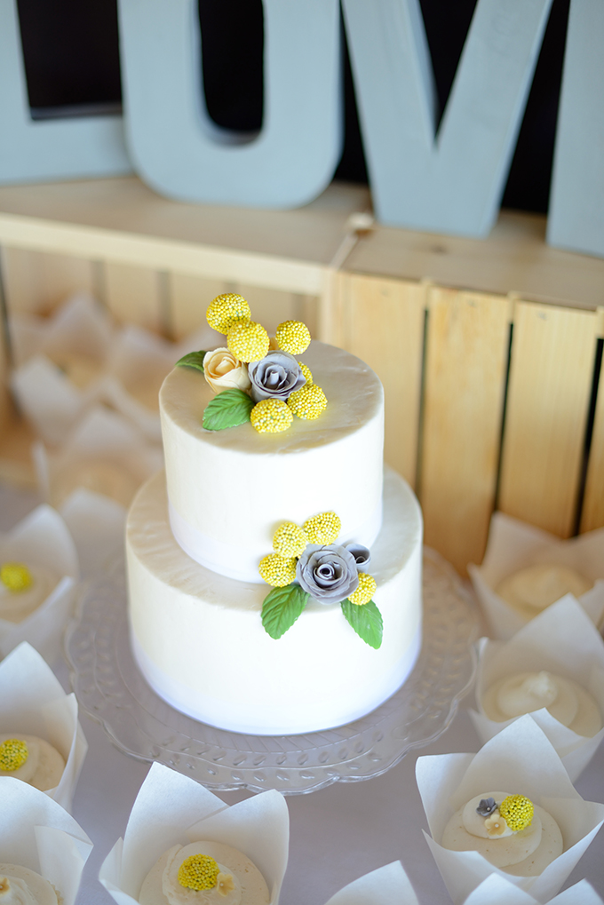 cute white cake | Stacy Kokes Photography | Glamour & Grace