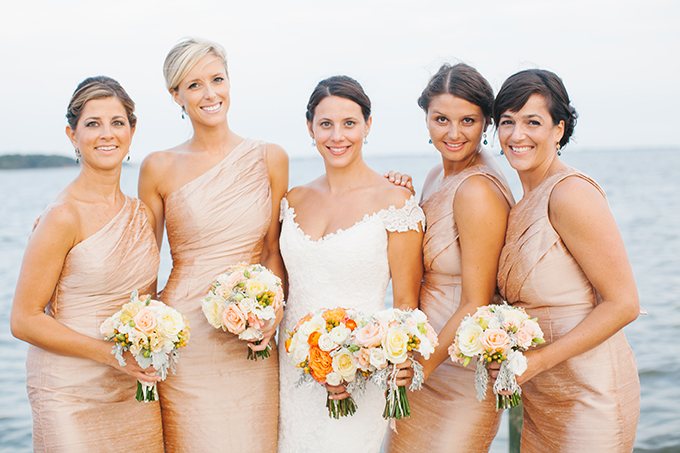 champagne Watters bridesmaid dresses | Kristin Moore Photo | Glamour & Grace