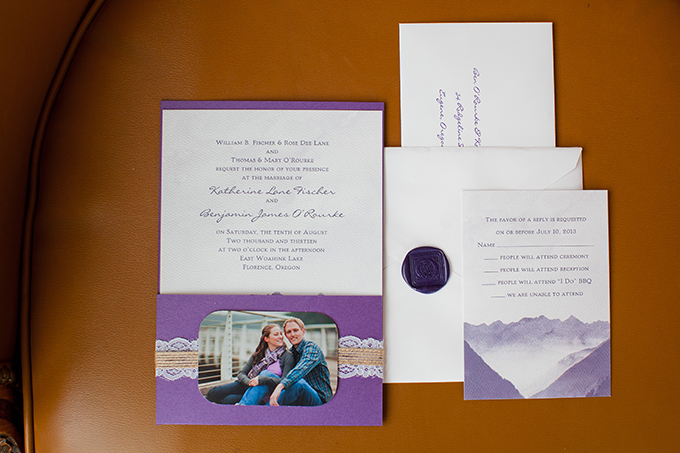 purple invitations | Jamie Zanotti Photography | Glamour & Grace