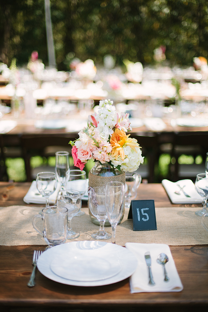 rustic chic centerpieces   Driver Photo   Glamour & Grace