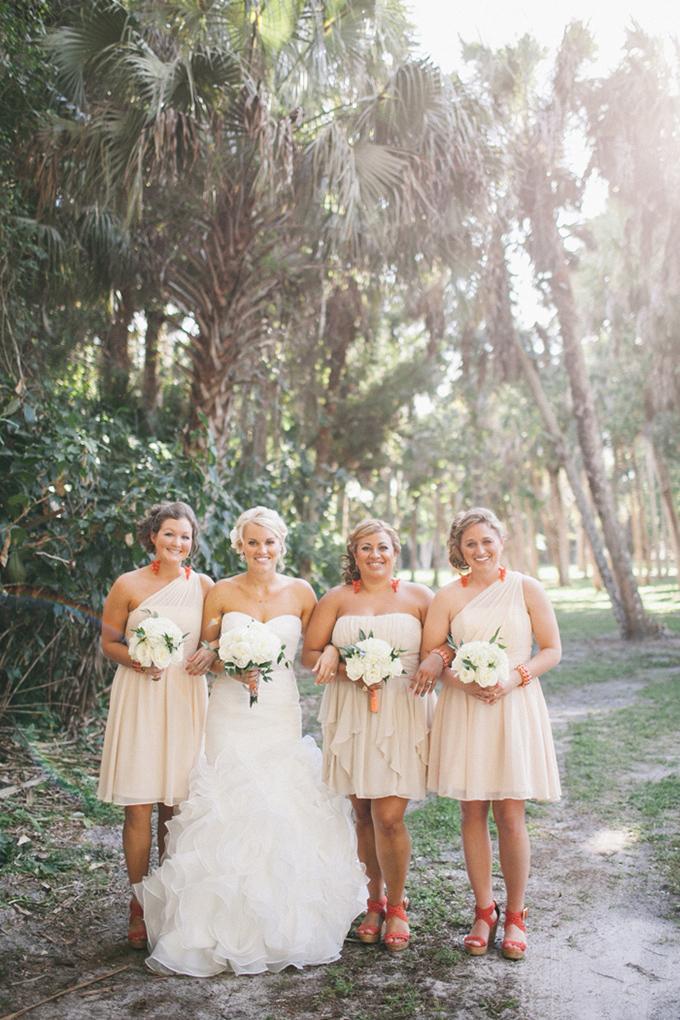 peach bridesmaids   Jennifer Martin Photography   Glamour & Grace