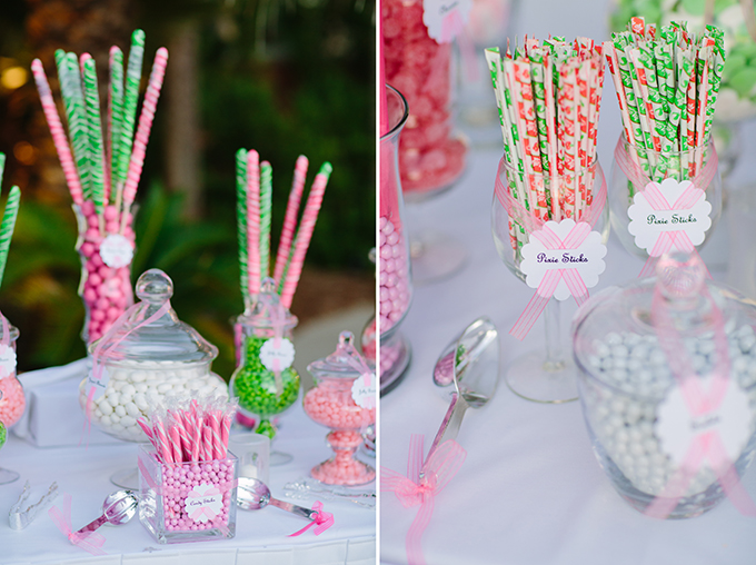 pink and green candy bar | Pure 7 Studios | Glamour & Grace
