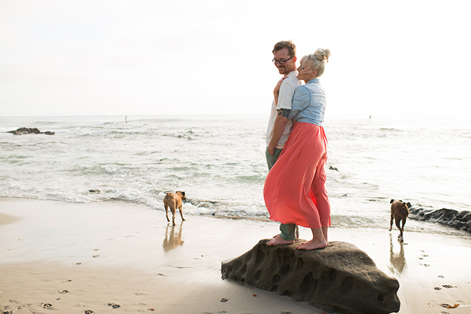 fun summer beach engagement | Limelife Photography | Glamour & Grace