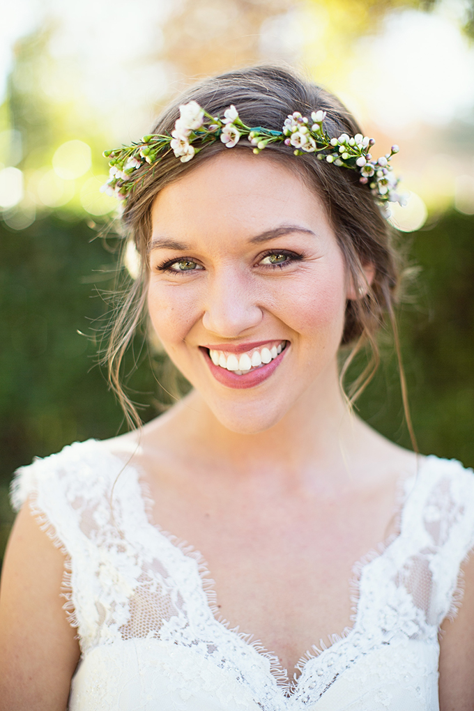fresh face and floral crown | Lovers of Love | Glamour & Grace