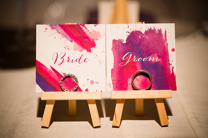 paint escort cards | Asya Photography | Glamour & Grace