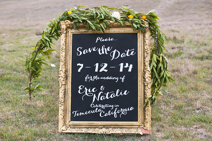 cute chalkboard save the date | Alyssa Marie Photography | Glamour & Grace