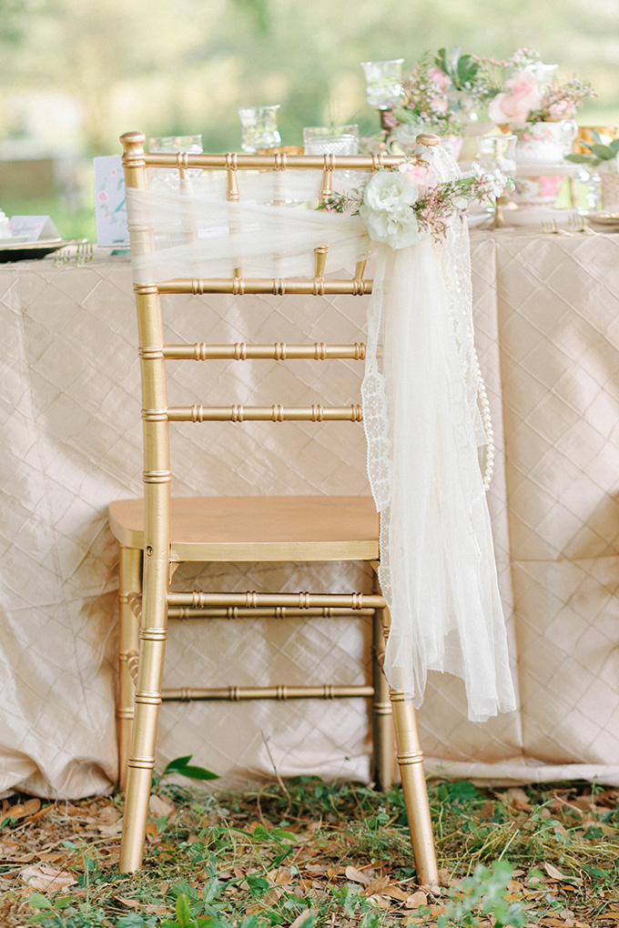 romantic chair detail | Catherine Ann Photography | Glamour & Grace