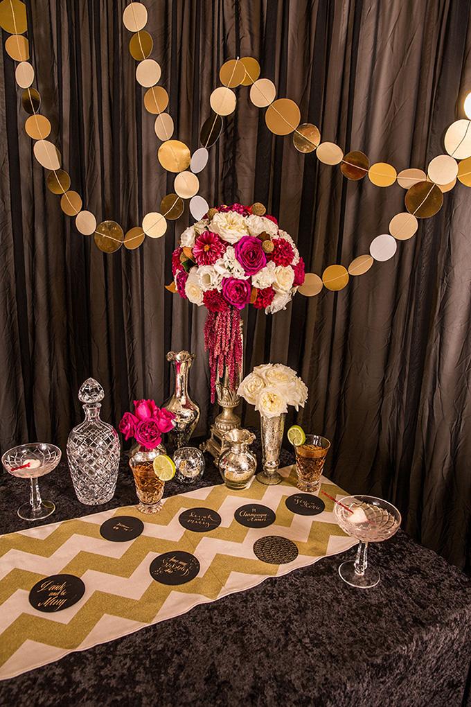 art deco cocktail party | Catch Studio | Glamour & Grace