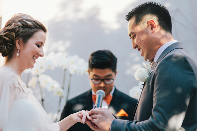 modern handmade wedding | Jerry Yoon Photographers | Glamour & Grace