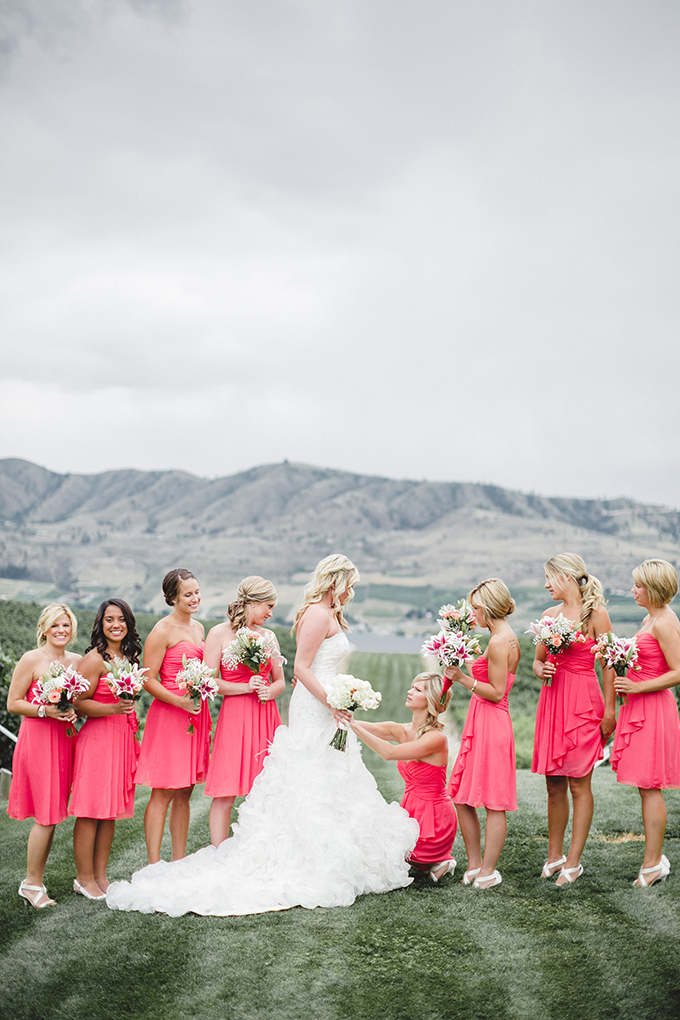hot pink bridesmaids | Jacquelynn Brynn Photography | Glamour & Grace