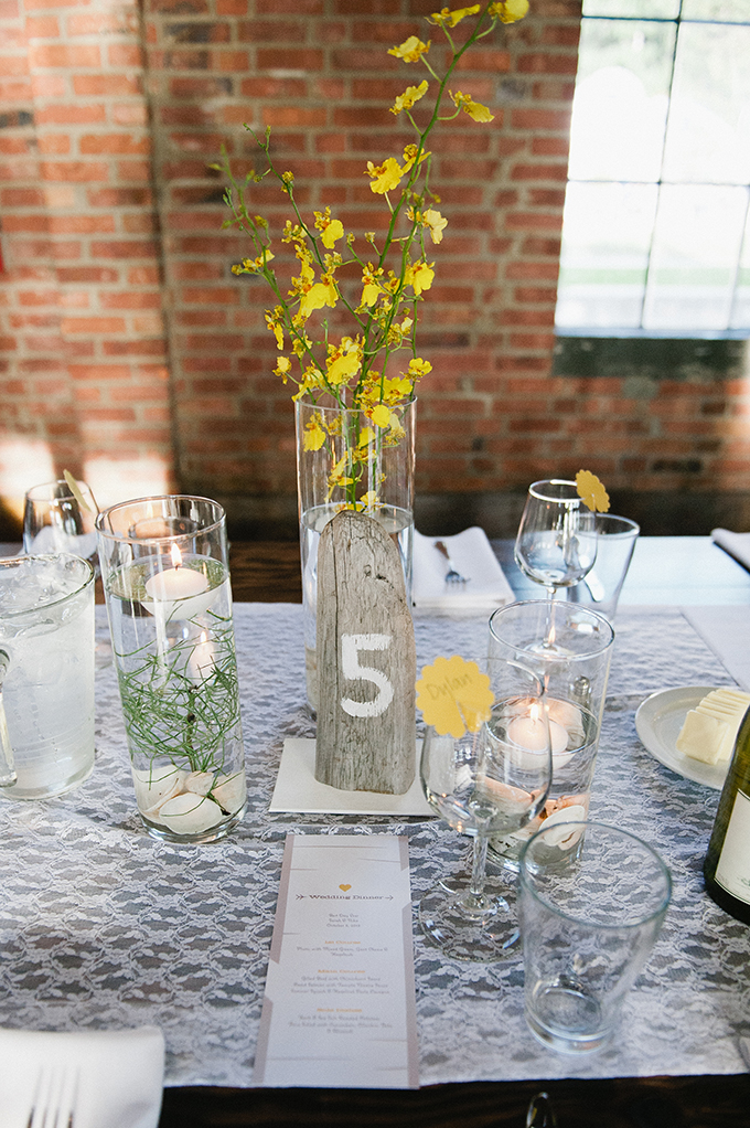rustic yellow centerpieces | Meredith McKee Photography | Glamour & Grace