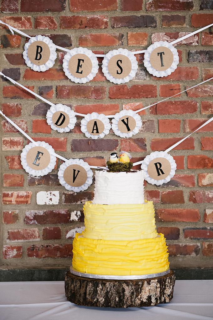 yellow ruffle cake  Meredith McKee Photography   Glamour & Grace