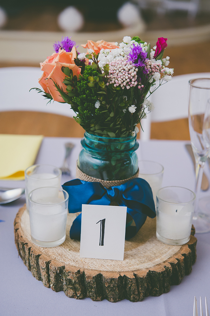 rustic DIY centerpieces | BG Productions Photography | Glamour & Grace