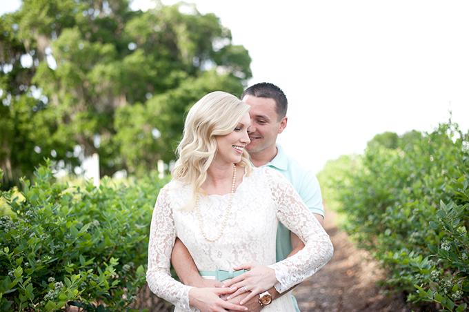blueberry farm engagement | Ansley Beth Photography | Glamour & Grace