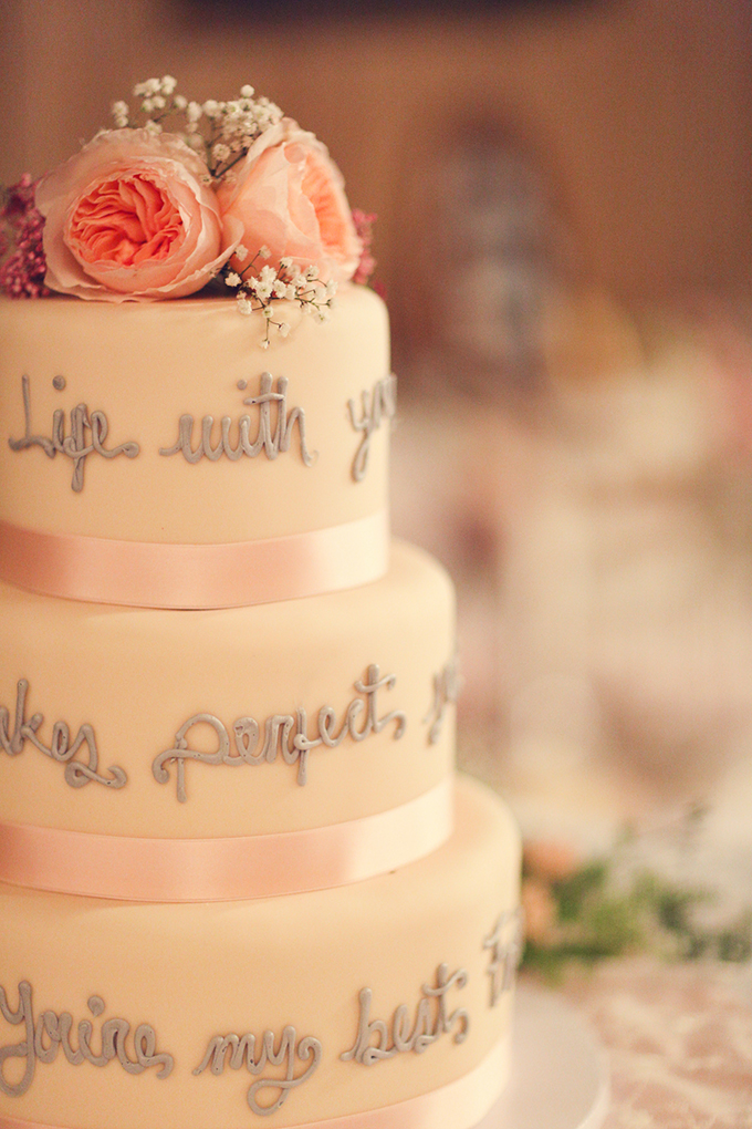 quote cake | Lukas & Suzy VanDyke | Glamour & Grace