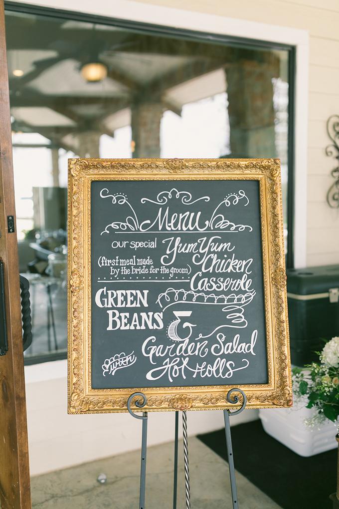 chalkboard menu   Logan Howard Photography   Glamour & Grace