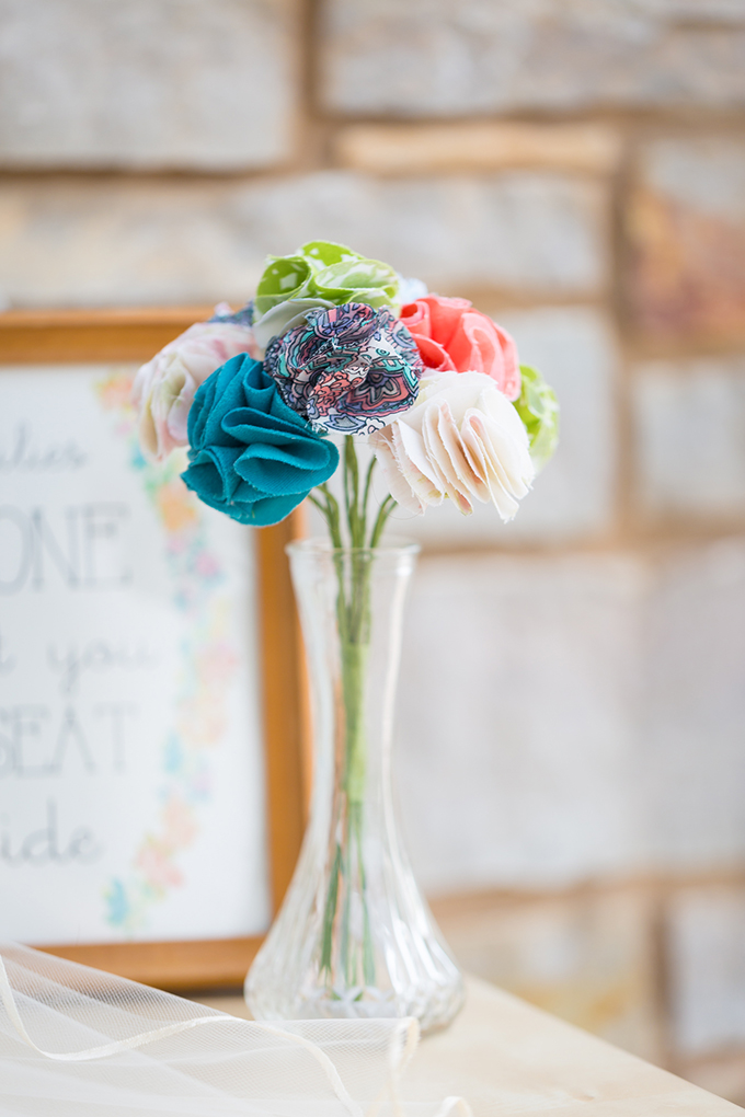 fabric flowers | Maison Meredith Photography | Glamour & Grace
