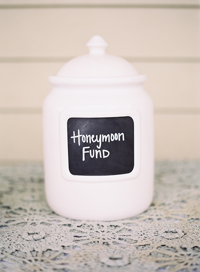 honeymoon fund jar | Tracy Enoch Photography | Glamour & Grace