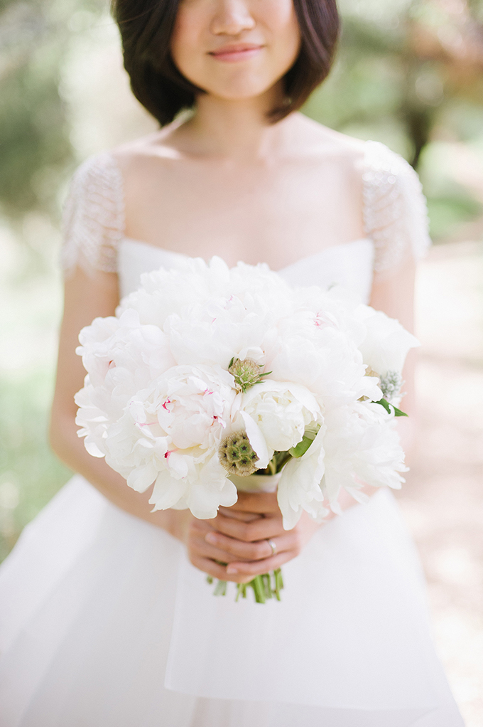 white peony bouquet | Melissa Gidney Photography | Glamour & Grace