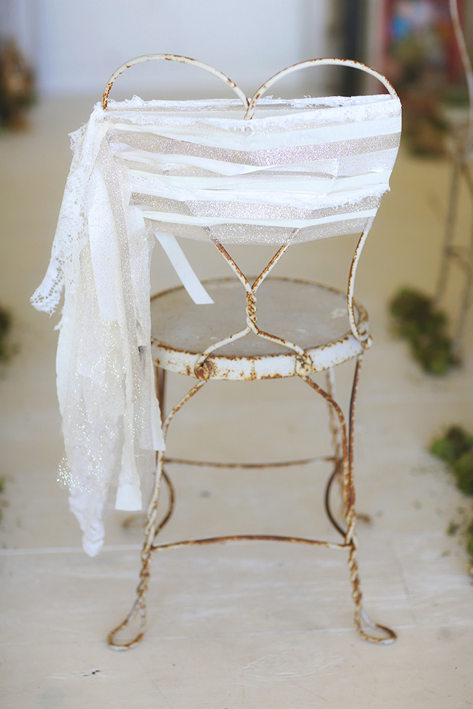chair ribbons | Melissa Enid Photography | Glamour & Grace