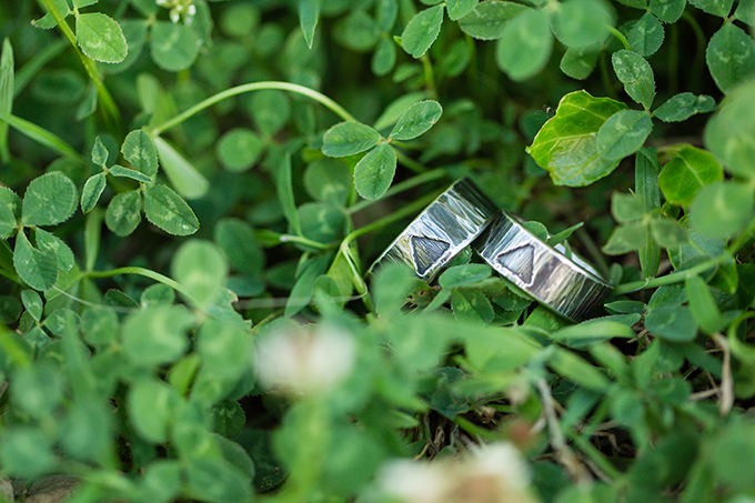 reclaimed silver wedding bands from The Smithery | Two Maries | Glamour & Grace